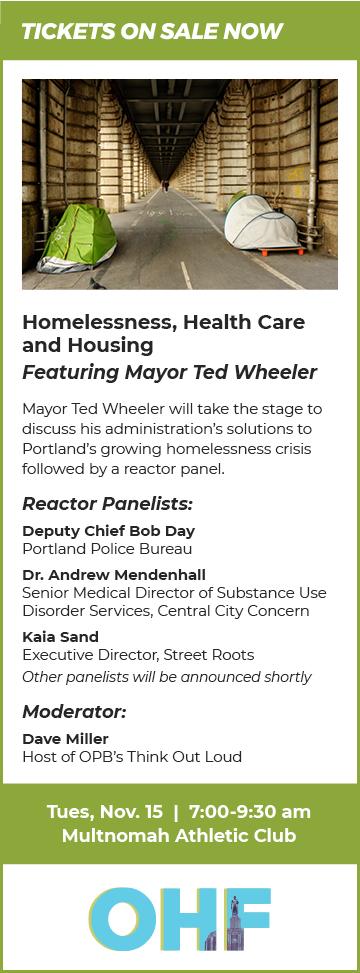 OHF November Portland Homelessness Event