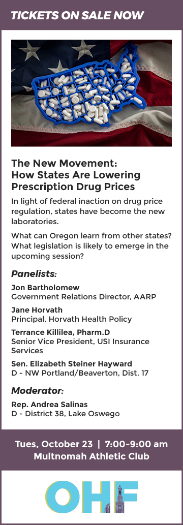 OHF Breakfast Forum 10/23/2018 How States are Lowering Drug Prices
